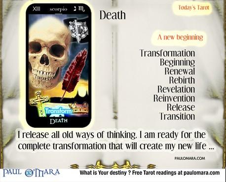 Meditation on the Death card