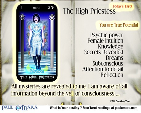 The High Priestess is the personification of veiled power.